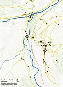 Das Unterdorf um 1890 Quelle: KG+Partner, ISA