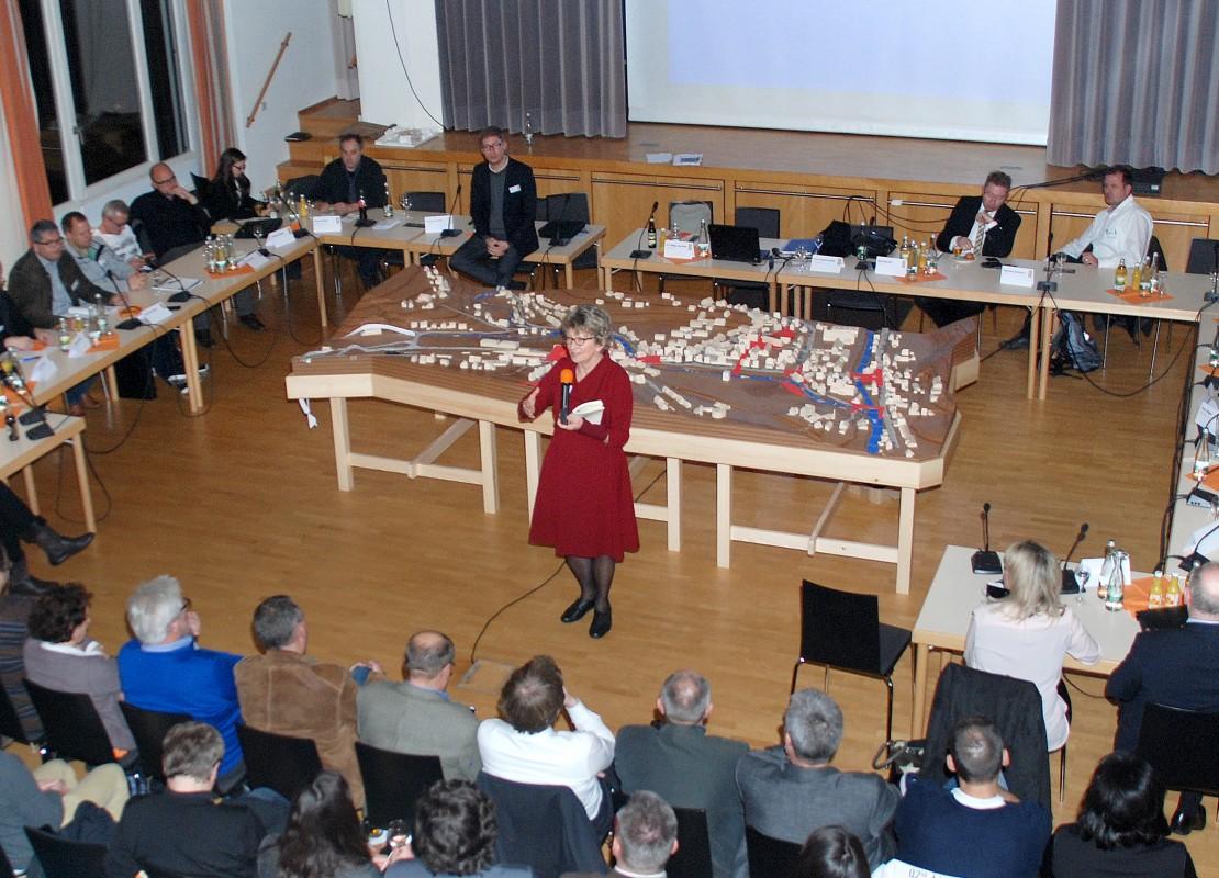 Letzte Diskussionsrunde: Mit der finalen Ideenpräsentation endet auch das diskursive Verfahren des Leitbildprozesses.
